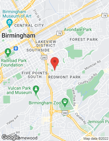 Map of Jared Gilbert - TIAA Financial Consultant at 2545 Highland Avenue, Birmingham, AL 35205