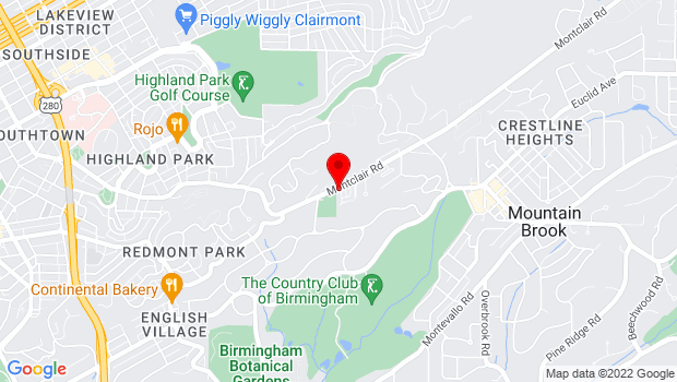 Google Map of 3609 Montclair Rd, Birmingham, AL 35213