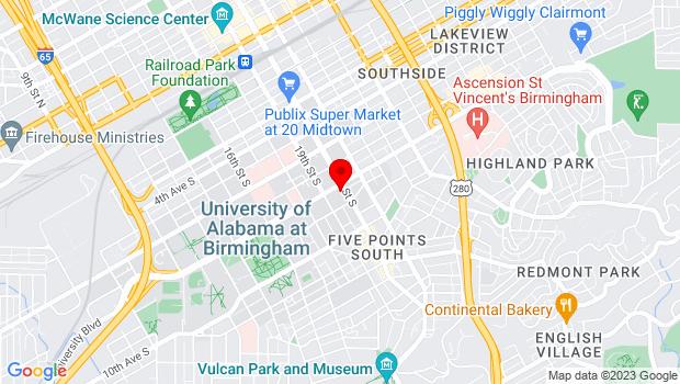 Google Map of 808 20th Street South, Birmingham, AL 35205