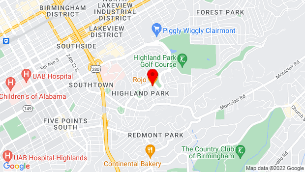 Google Map of 2921 Highland Ave South, Birmingham, AL 35205