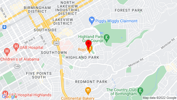 Google Map of 2908 Highland Ave. South , Birmingham, AL 35205-