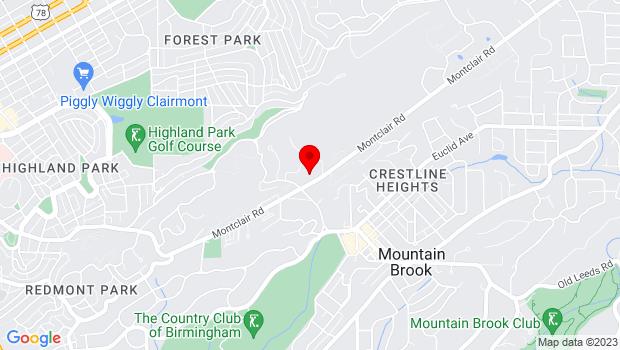 Google Map of 3918 Montclair Road, Suite 100, Birmingham, AL 35213