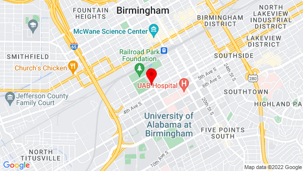 Google Map of 1530 3rd Avenue South, Birmingham, Alabama 35294-0013