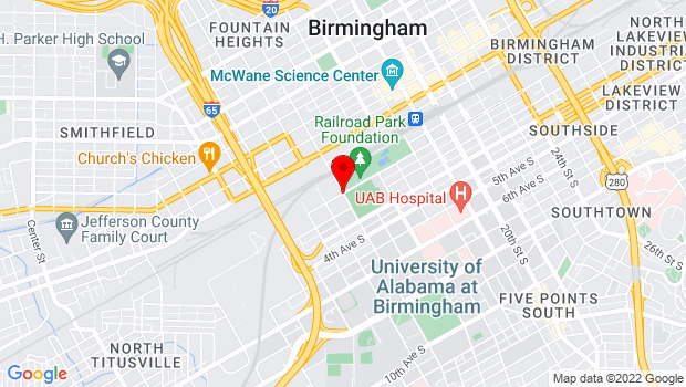 Google Map of 1401 1st Avenue S, Birmingham, AL 35233