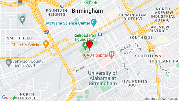 Google Map of 1531 1st Avenue S, Birmingham, AL 35233