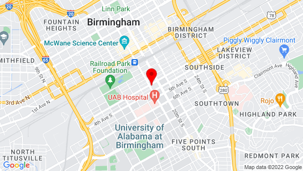 Google Map of 307 19th Street South, Birmingham, AL 35233