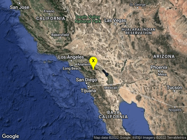earthquake 5km S of Anza, CA