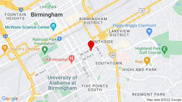 Google Map of 500 23rd Street South, Birmingham, Alabama 35233