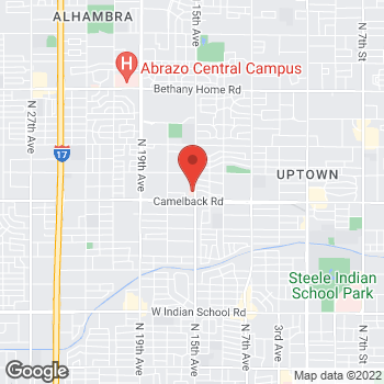 Map of Samia Kadri, NP at 5040 N 15th Avenue, Phoenix, AZ 85015