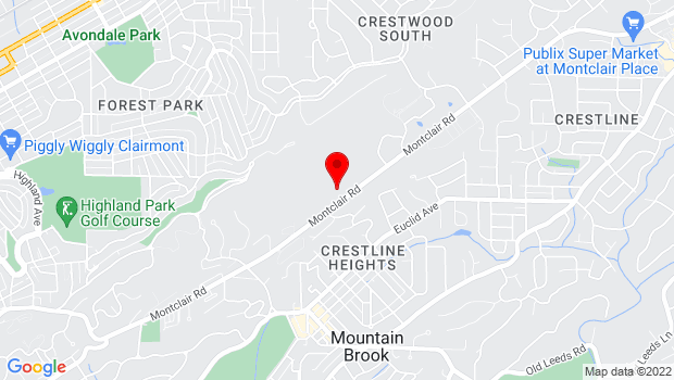 Google Map of 3960 Montclair Road, Birmingham, AL 35213