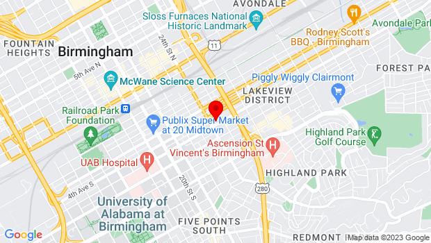 Google Map of 2410 5th Avenue S, Birmingham, AL 35233