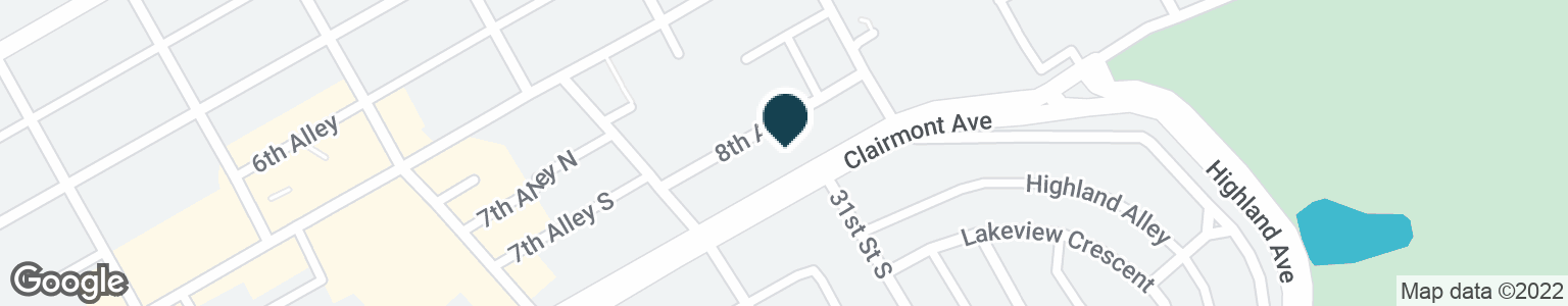 Google Map of3020 CLAIRMONT AVE S