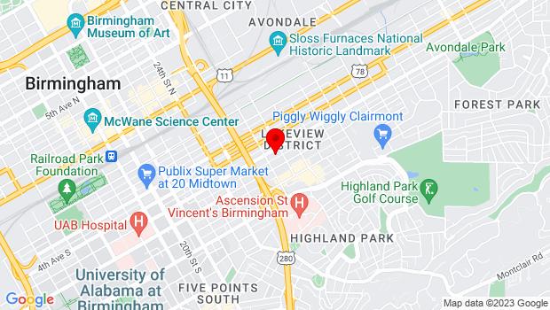 Google Map of 2721 5th Ave South, Birmingham, AL 35233