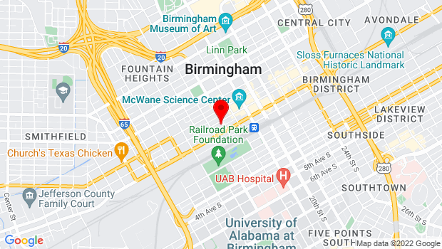 Google Map of 1623 2nd Ave N, Birmingham, AL 35203
