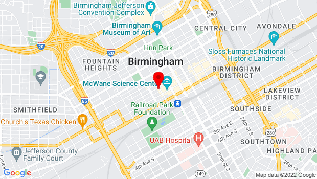 Google Map of 230 18th St N, Birmingham, AL 35203