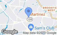 Map of Martinez, GA