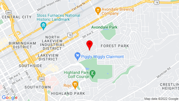 Google Map of 3600 8th Ave S, Birmingham, AL 35222