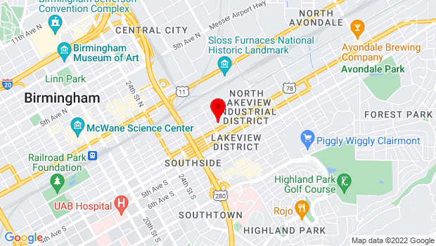 Google Map of 2821 2nd Ave S Suite A-1, Birmingham, AL 35233