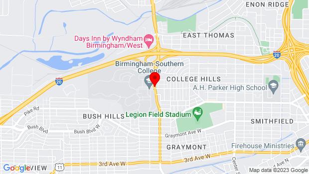 Google Map of 900 Arkadelphia Road, Birmingham , AL 35254