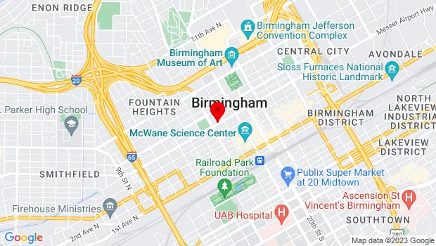 Google Map of 509 17th St N, Birmingham, AL 35203, Birmingham, AL 35203