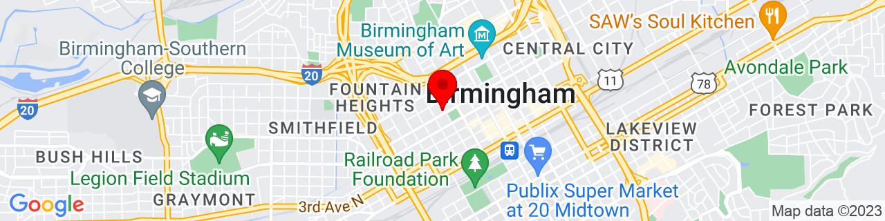 Google Map of 33.516743, -86.8149735