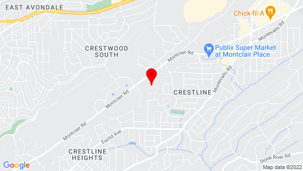 Google Map of 2 Xavier Circle, Birmingham, AL 35213