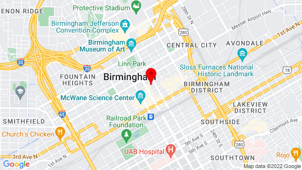 Google Map of 2019 4th Ave N, Birmingham, AL 35203