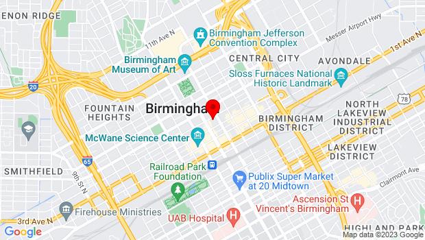 Google Map of 2019 4th Ave N, Birmingham, AL 35203