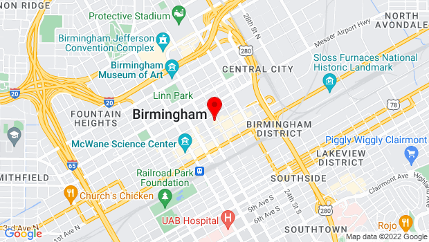 Google Map of 2120 3rd Avenue North in Birmingham , Birmingham, AL 35203
