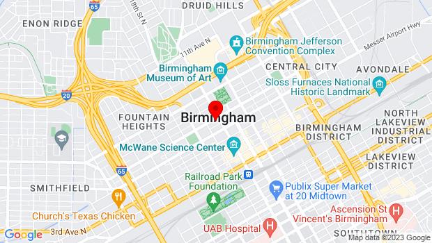 Google Map of 518 19th St N, Birmingham, AL 35203