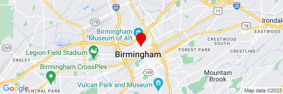 Google Map of 33.518621388889,-86.807833055556