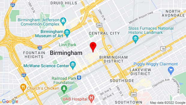 Google Map of 309 23rd Street North, Birmingham, AL 35203