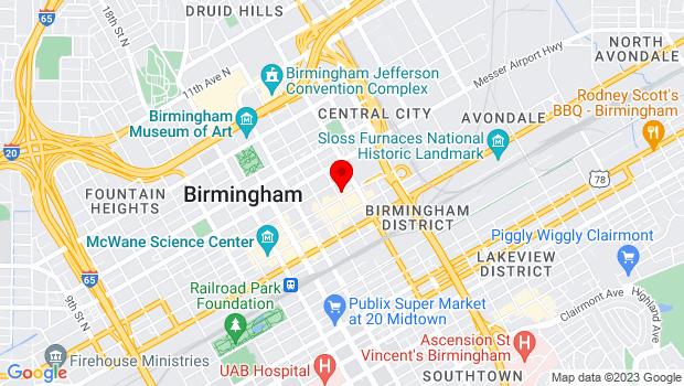 Google Map of 309 23rd Street North, Birmingham, AL 35203