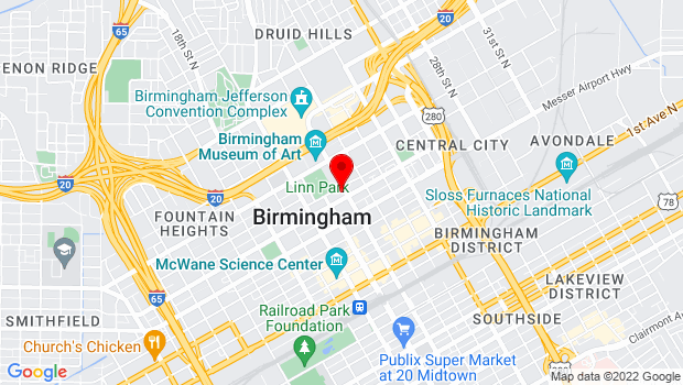 Google Map of 2021 Park Place North, Birmingham, AL 35203