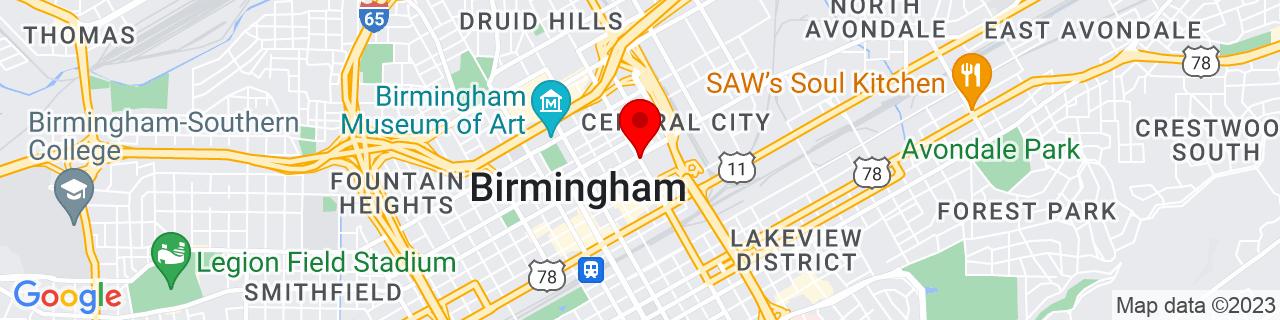 Google Map of 33.52055555555555, -86.8025