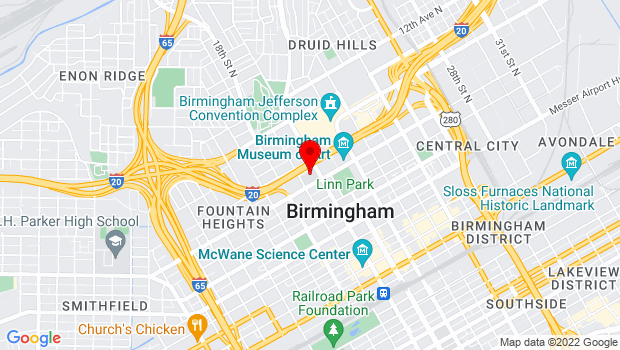 Google Map of Alabama School of Fine Arts, Birmingham, Alabama 35203