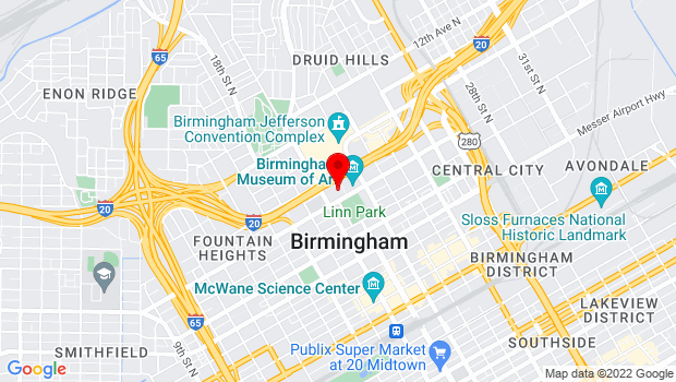 Google Map of 1930 8th Ave N, Birmingham, AL 35203