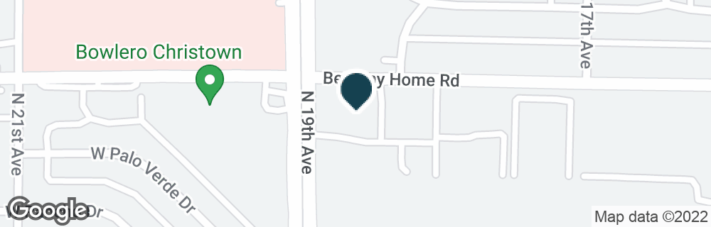Google Map of1825 W BETHANY HOME RD