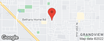 Map of 4151 W Bethany Home Rd in Phoenix