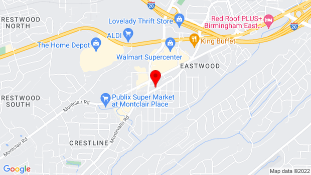 Google Map of 4628 Montevallo Road, Ste 204, Birmingham, AL 35210