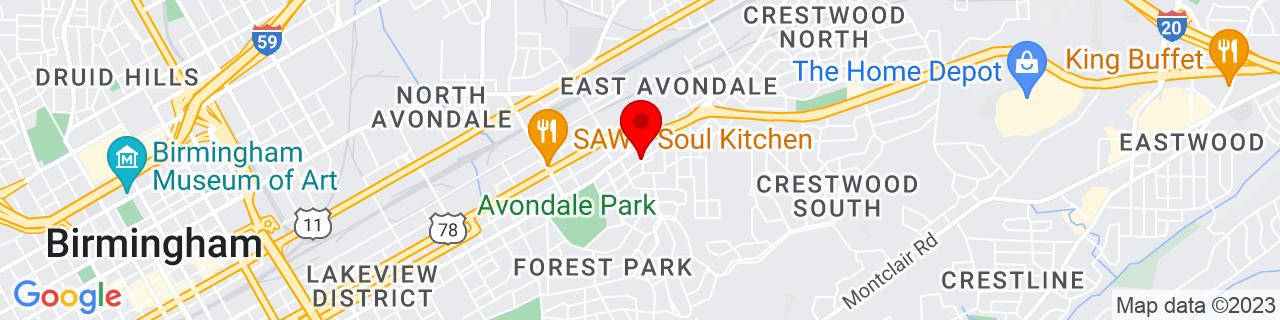 Google Map of 33.5245141, -86.7659933