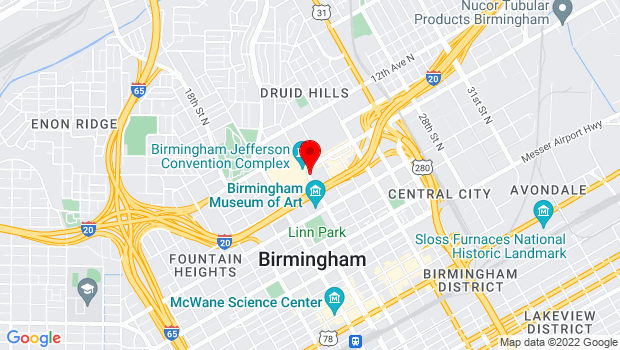 Google Map of 2101 Richard Arrington Junior Boulevard North , Birmingham, AL 35203