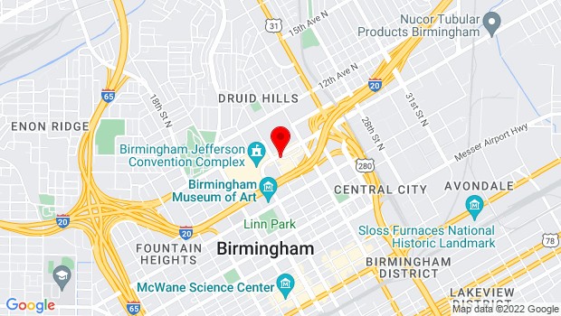 Google Map of 2221 Richard Arrington Jr. Blvd North, Birmingham, AL 35203