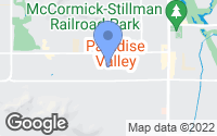 Map of Paradise Valley, AZ