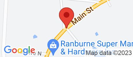 Branch Location Map - BB&T, Ranburne Branch, 21454 Main Street, Ranburne AL