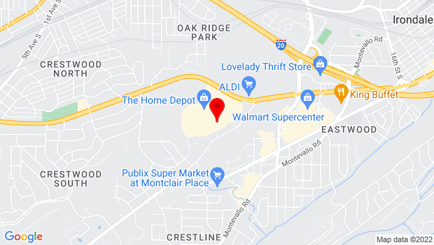 Google Map of 7001 Crestwood Blvd, Birmingham, AL 35210