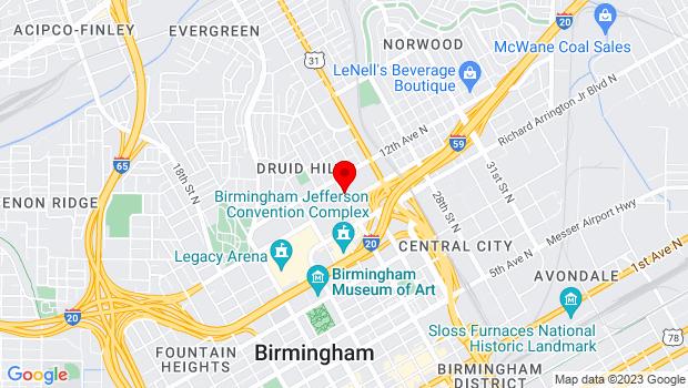 Google Map of 1111 24th St. N, Birmingham, AL 35234