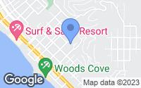 Map of Laguna Beach, CA