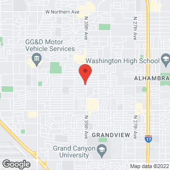 Map of Victoria Lutz, NP at 6502 N 35th Avenue, Phoenix, AZ 85017