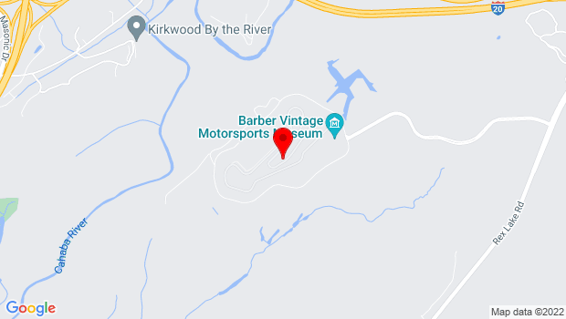 Google Map of 6040 Barber Motorsports Parkway, Leeds, AL 35094